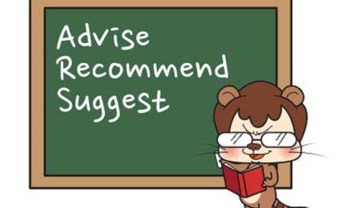 Cấu trúc - cách dùng Recommend, Advise và Suggest trong tiếng Anh