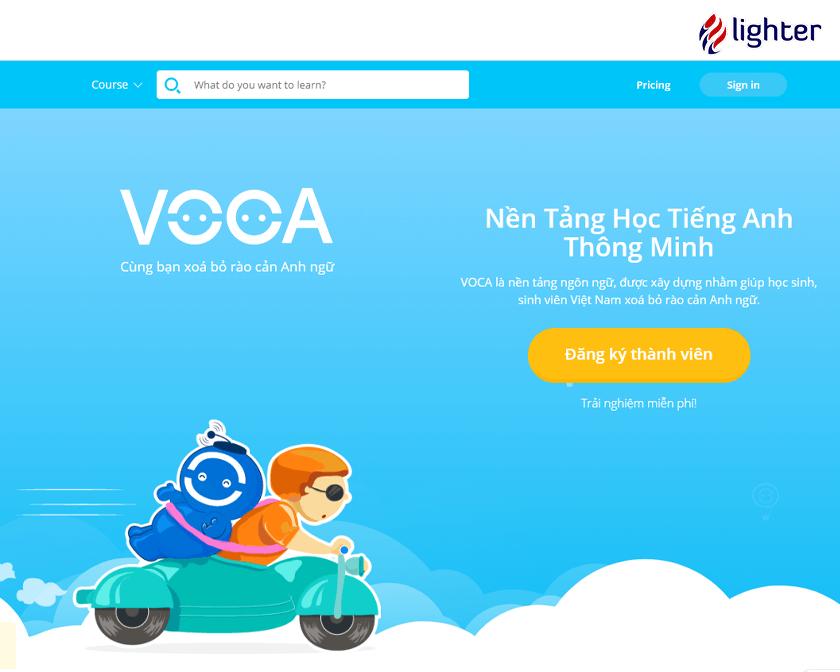 Voca – Trang học từ vựng tiếng Anh cho sinh viên học sinh