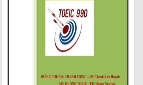 Tải tài liệu dịch song ngữ nghe hiểu ETS TOEIC Full PDF