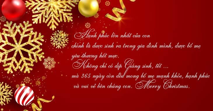 Lời chúc Giáng sinh dành cho ba mẹ