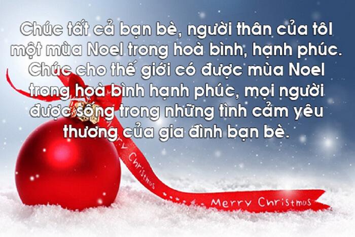 Lời chúc Giáng sinh dành cho bạn bè