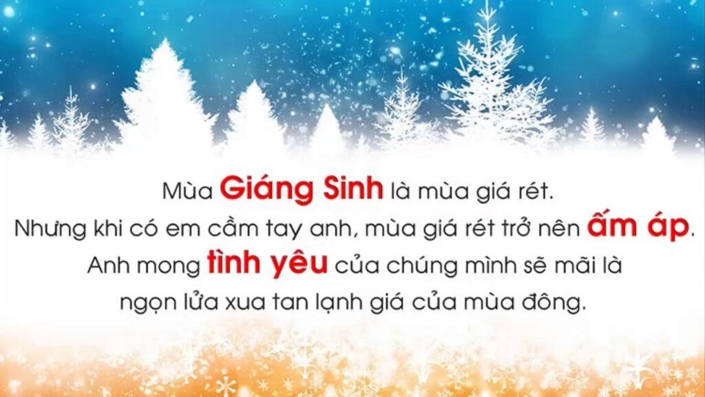 Lời chúc Giáng sinh dành cho người yêu