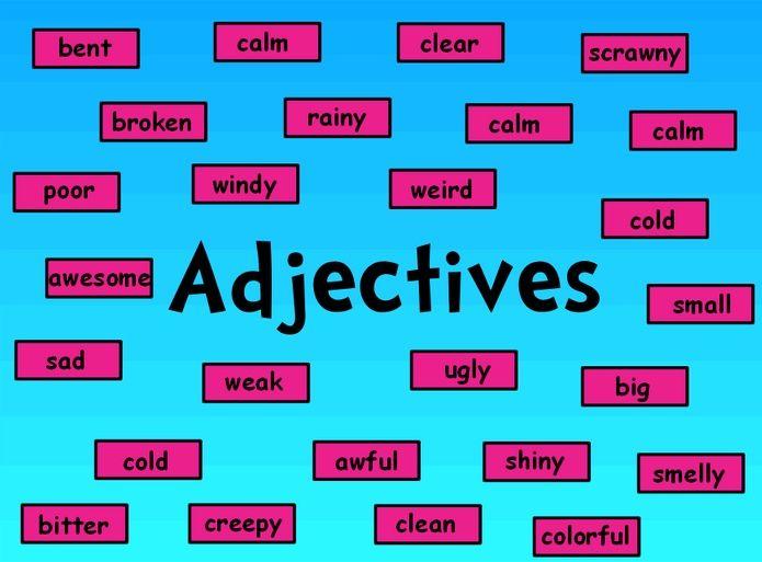 Những tính từ được dùng trong tiếng Anh
