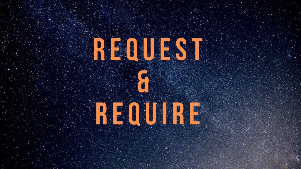 Phân biệt Request & Require