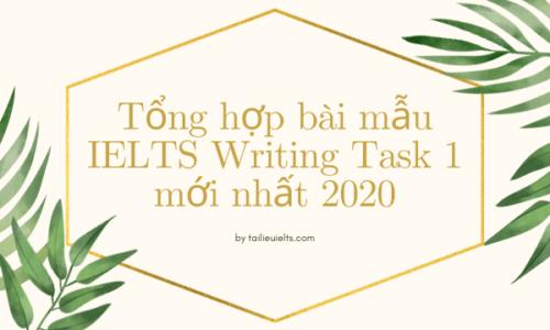 Tổng hợp bài mẫu IELTS Writing Task 1 mới nhất 2020