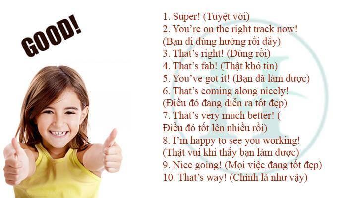 Những câu khen ngợi thông dụng trong tiếng Anh