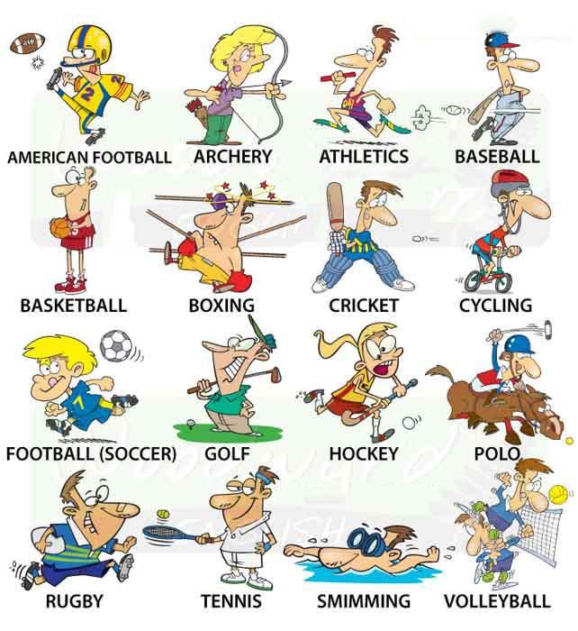 Môn thể thao bằng tiếng Anh