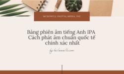 Bảng phiên âm tiếng Anh IPA – Cách phát âm chuẩn quốc tế chính xác nhất
