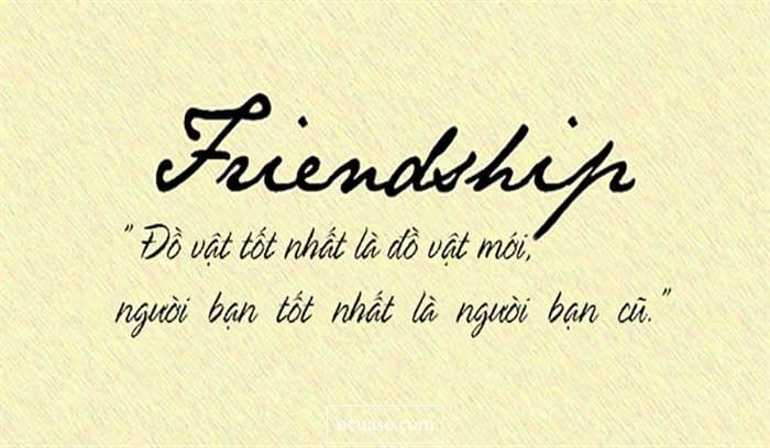 Những câu nói tiếng Anh hay về Tình bạn