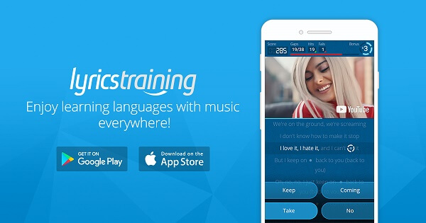 Phần mềm học tiếng Anh Lyrics Training