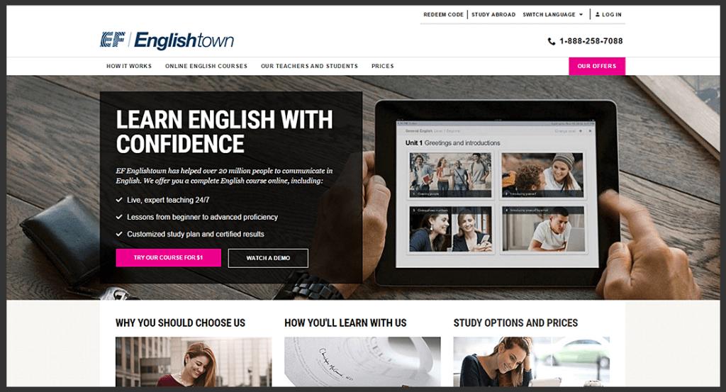 Phần mềm học tiếng Anh EF English Town